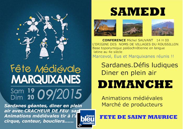 fête médiévale marquixanes affiche 2015