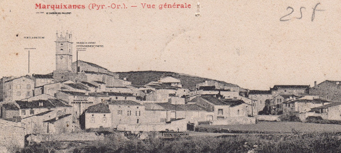 Marq le carrer del palleret vers 1900