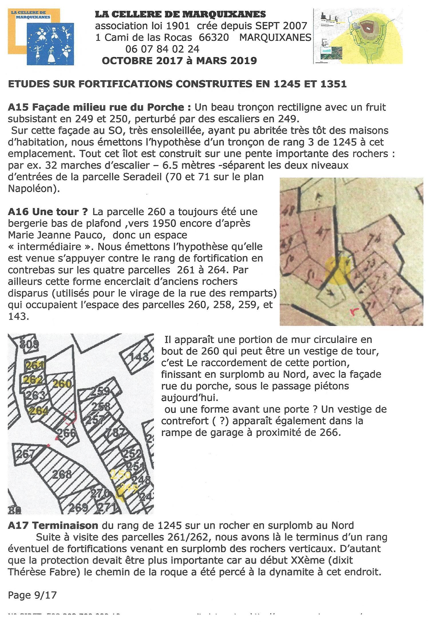FORTIFICATIONS DE 1245 ET 1351 MARQUIXANES
